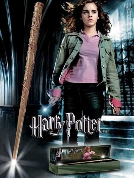 Harry Potter baguette magique lumineuse HERMIONE en boite réplique 1 1 010523