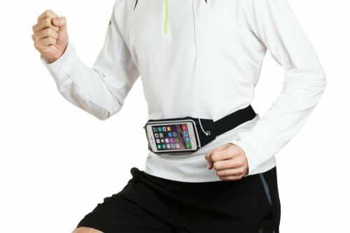 Water-Resistant Sports Running Adjustable Waist Belt Bag case for Galaxy S8 Plus