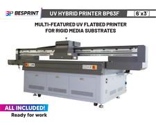 Bp63f Multi Featured Uv Flatbed Printer 6x3 For Rigid Media Substrates