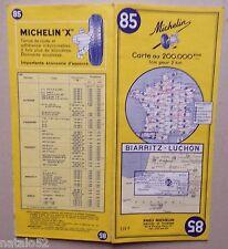 carte MICHELIN 85 BIARRITZ - LUCHON  - 1964