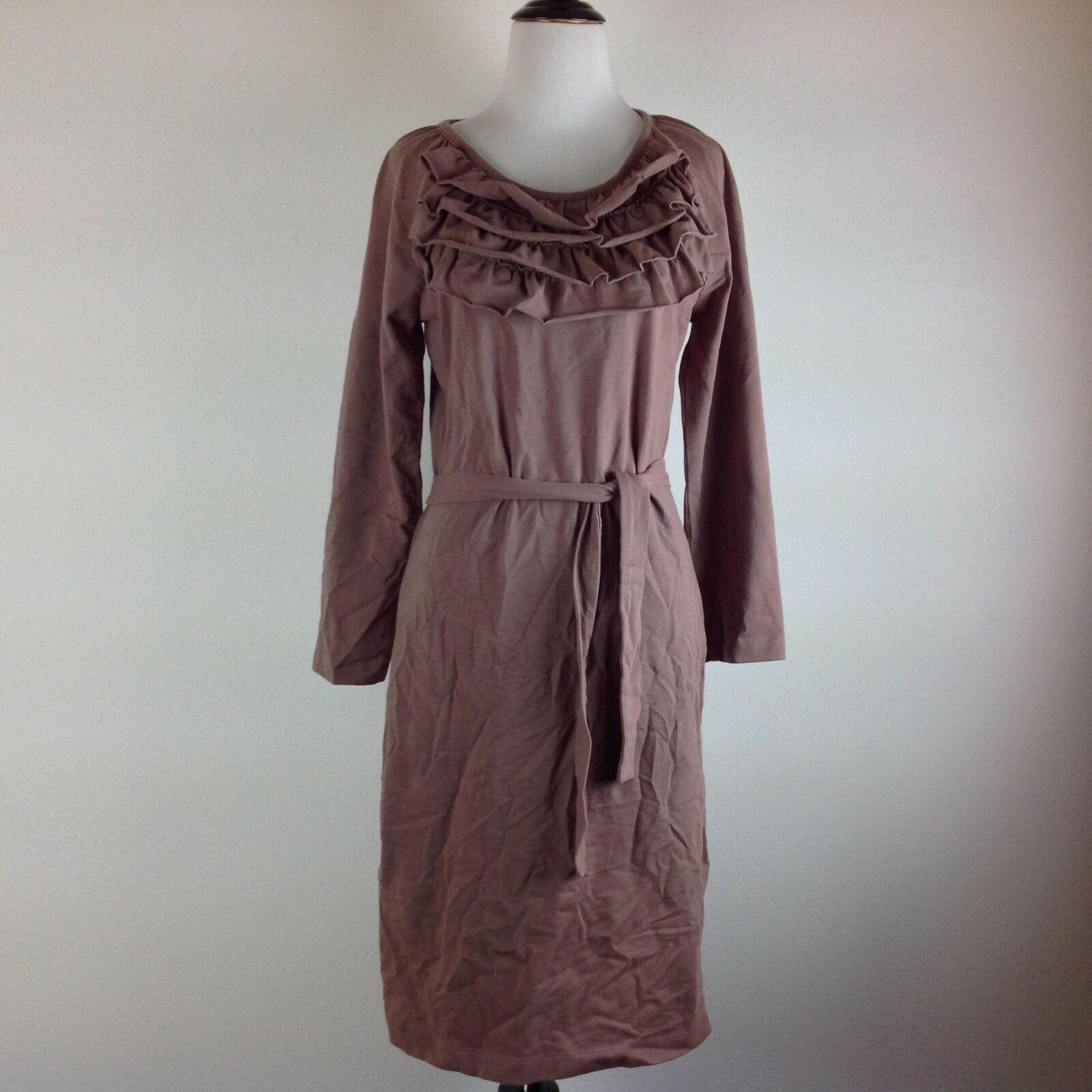 Acacia Dress Women XS Stretch Sheath Brown