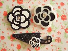 3 x Crystal Flower Umbrella Flatback Resin Embellishment Crafts Bows Cabochon UK