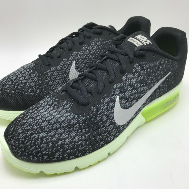 Nike Air Max Sequent 2 Men's Running BlackMetallic Cool Grey 852461 011