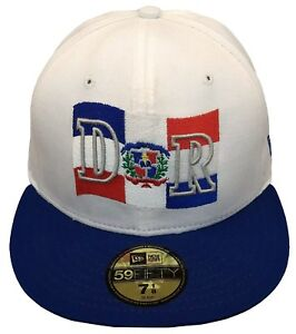 New Era Dominican Republic 59FIFTY Fitted Cap White//Blue