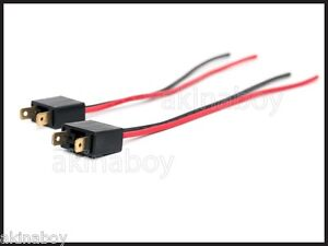 2x h7 male wiring harness bulb lamp wire connectors plugs. Black Bedroom Furniture Sets. Home Design Ideas