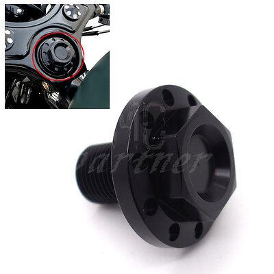 Black  Billet Steering Stem Bolt Plug Nut for Harley Dyna Sportster FXD 72 48