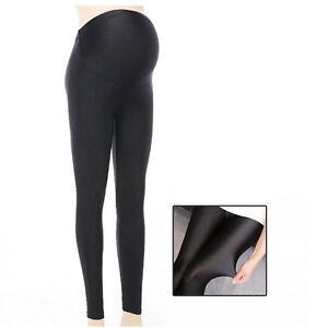 Shiny-Overbumped-Leggings-Skinny-Trousers-Pants-Pregnancy-Maternity-S-M-L-XL