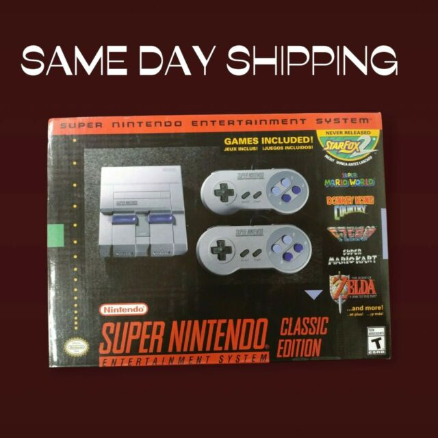 Brand New Super Nintendo Classic Mini Entertainment System SNES 21 Game Console