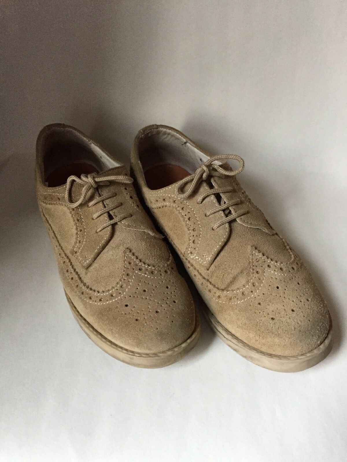 Brooks Brougehers femmes Tan Suede Made in  Wingtips Oxfords Brogues Taille 4