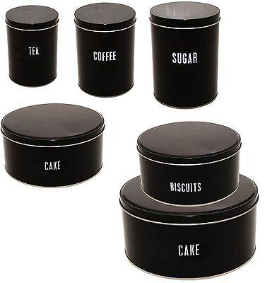 Price & Kensington Contrast Black Tea Coffee Sugar Cake & Biscuit Tin Canister