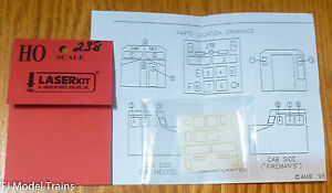 American-Model-Builders-Inc-HO-238-Windows-for-Athearn-C44-9W-Southern-Pacifi