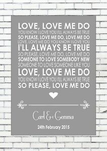 Love me do beatles wedding anniversary song personalised first image is loading love me do beatles wedding anniversary song personalised stopboris Gallery