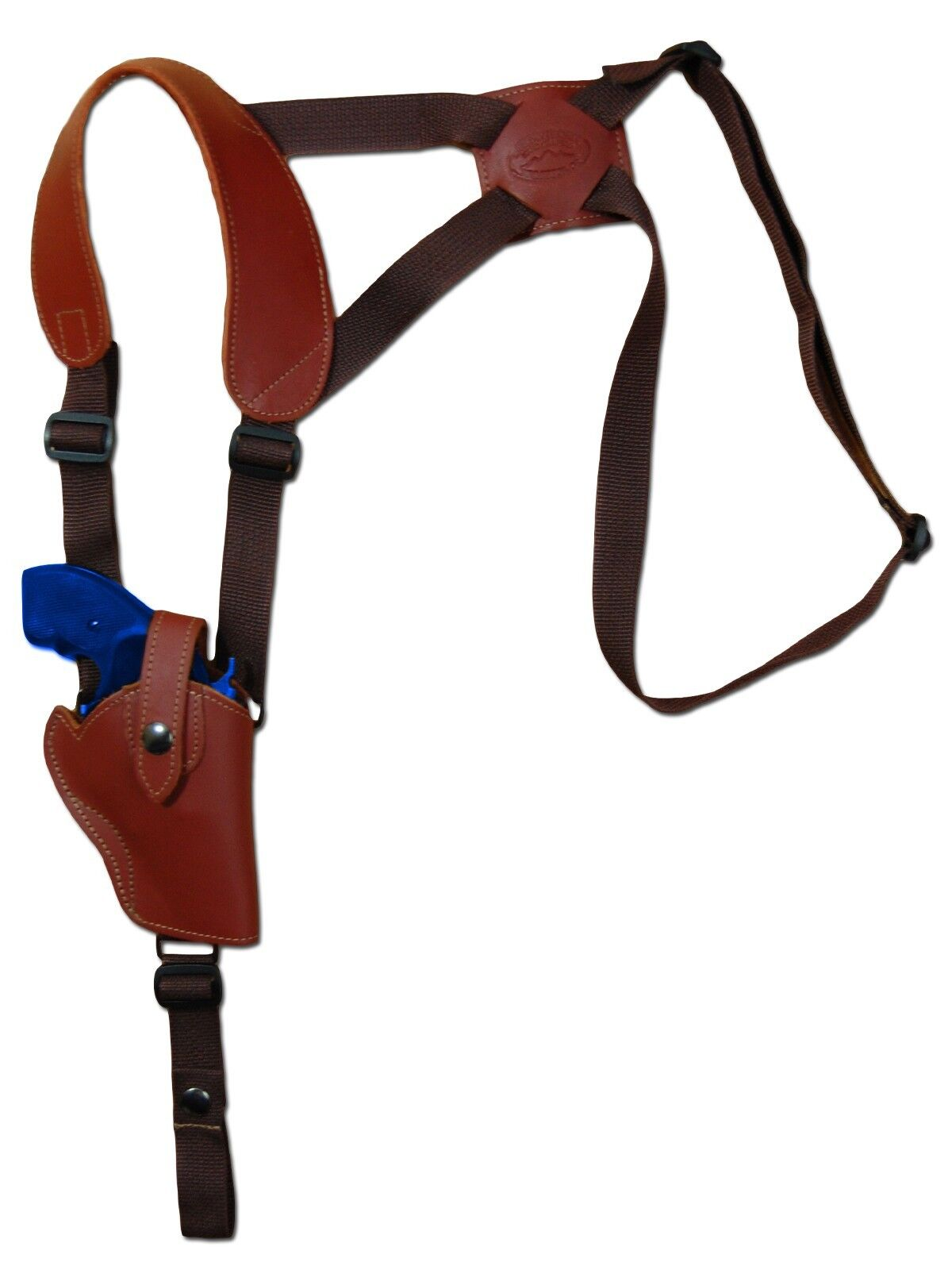 NEW Barsony Burgundy Leder Vertical Gun Shoulder Holster Taurus 2