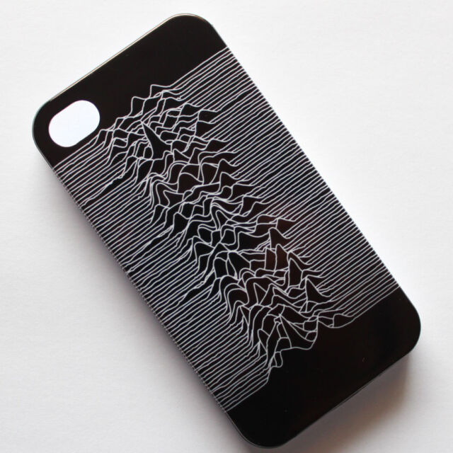 JOY DIVISION Unknown Pleasures Gothic Punk Pattern iPhone 4 4s Hard Case Cover