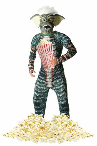 Mens Official Gremlins Costume Halloween Retro 80s Fancy Dress Outfit Masks