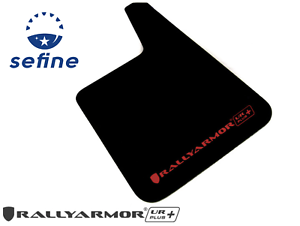 Rally Armor UR Mud Flaps Red with White Logo Universal fitment