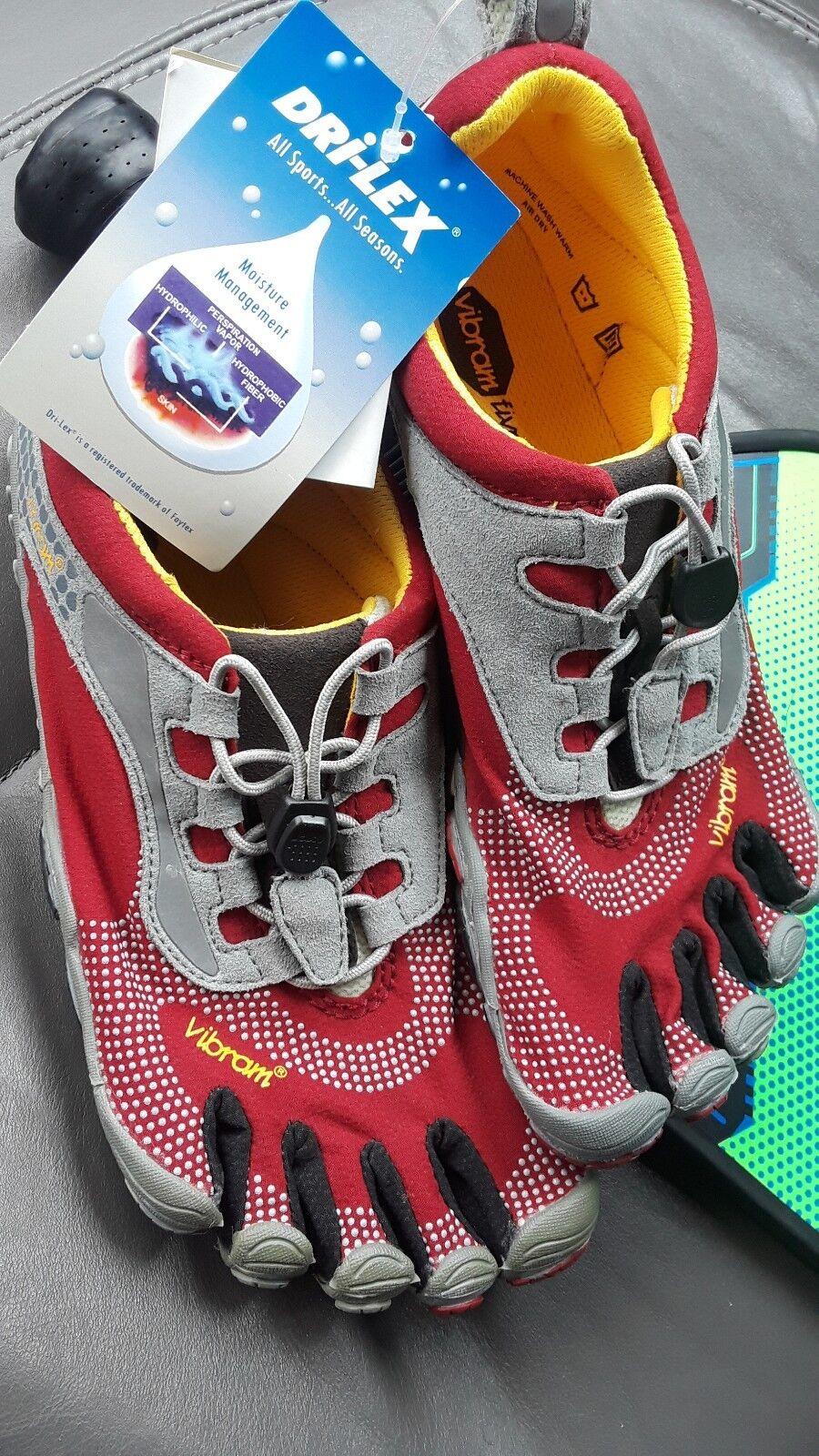 Vibram Fivefingers Bikila W3535 mujer mujer mujer talla 42 US 11 gris correr descalzo Rojo  a la venta