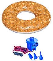 Swimline 90641 Raft Pool Inflatable Everything Bagel Float W/ 12v Air Pump on sale