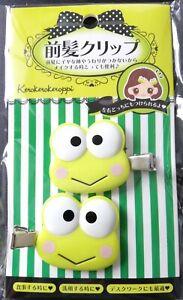 SANRIO-Kero-Kero-Keroppi-hair-clip-accessory-relief-item-2-pieces-set