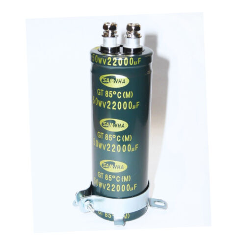 40 185°F with Flange Electrolytic Capacitor 22000uF 50V screw 1 3//8x3 7//8in
