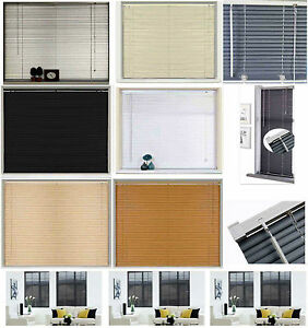 New-PVC-Blinds-Window-Venetian-Easy-Fit-Blinds-Home-Office-Wood-Effect-All-Sizes