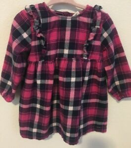 da5b63c7ce38 Tucker and Tate Girls Ruffle Flannel Plaid Dress Size 18 Months ...