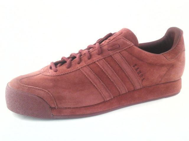 Adidas Originals Samoa Samoa Originals cerdo piel Zapatos De Gamuza misterio Rojo B39016 US 13 130 960c84
