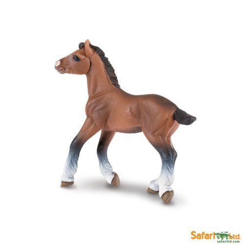 Clydesdale Foal ~ Safari Ltd #151405 ~ plastic horse toy replica figure