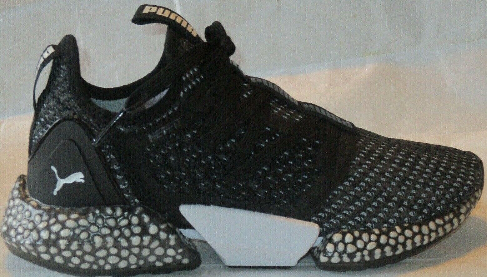 MEN'S PUMA HYBRID ROCKET NETFIT PUMA BLACK-IRON GATE  SHOES SIZE 8