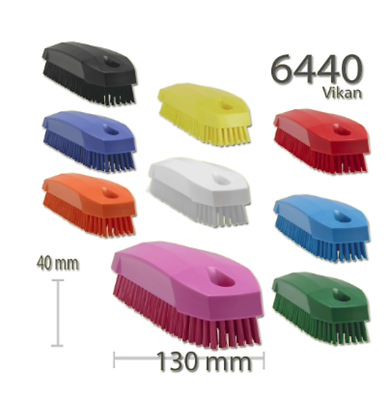 Vikan 64409 Stiff Nail Scrubbing Brush Clean Bathroom Kitchen Upholstery Fabric