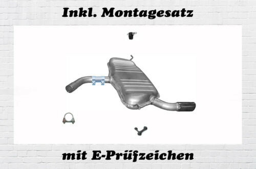 1.6 FSI 3-Tür Endschalldämpfer Auspuff Endtopf Montagesatz BJ.03-12 Audi A3 1.6