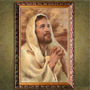 D130-Catholic-Christian-Holy-Religion-Framed-Painting-Picture-Jesus-Christ-M