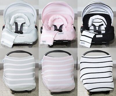 The Whole Caboodle 5 Pc Set Car Seat Canopy Cover Jersey Stretch Baby Boys Girls Ebay