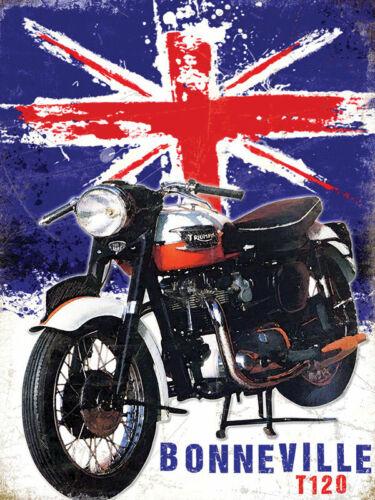 Triumph Bonneville T120 Classic British Motorcycle Medium Metal//Steel Wall Sign