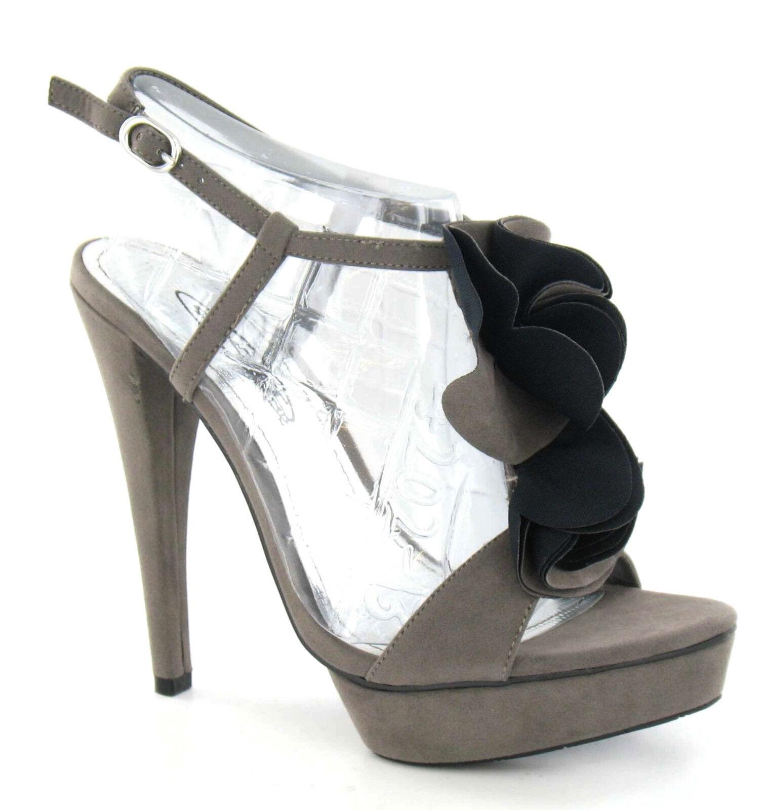 Moda jest prosta i niedroga SPOT ON F1735 da donna grigio camoscio sintetico a balze Scarpe con zeppa (34B)