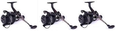 3 X Nash H-Gun Free Run Reels FR8 Free Spin Carp  Fishing Reel Set
