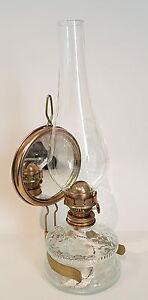 Ollampe-mit-Spiegel-antiker-Stil-klarglas-Petroleumlampe-Tischlampe-32-5-cm