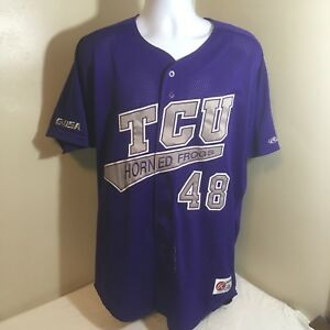 online store bccd4 ecb88 Details about Rawlings Baseball Jersey TCU Texas Christian University  Horned Frogs 48 Stitched