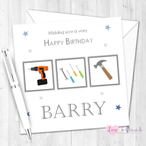 Image Is Loading DIY Mad Personalised BIRTHDAY CARD For Him Dad