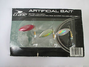 Details about Crane Artificial Bait Lures Set Of 3