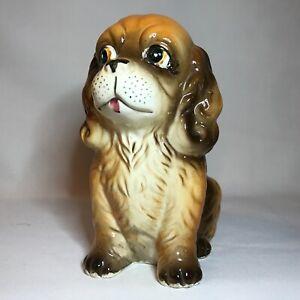 Vintage-COCKER-SPANIEL-Puppy-Planter-D-ANN-IMP-Japan-Sticker