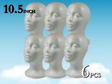 105 Wig Styrofoam Head Foam Mannequin Display 6pc