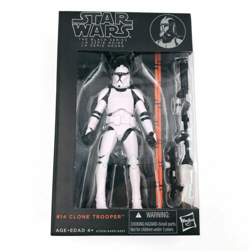 "New Boxed Hasbro Star Wars Black Series 6/"" #014 Clone Trooper"
