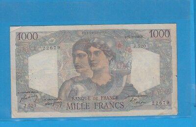 1 000 Francs Minerve Et Hercule Du 17-2-1949 J.520