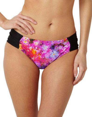 New Panache Savannah Gather Bikini Brief Pant Black Floral SW0789 VARIOUS SIZES