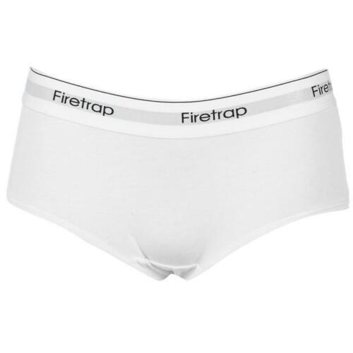 New Firetrap Ladies Briefs Shorts Underwear GYM WHITE BLACK GREY A612