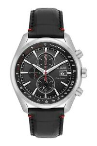 Citizen Eco-Drive Men's Chronograph Black Multi Dial 43mm Watch CA0369-11E