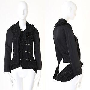 runway-JUNYA-WATANABE-SS2006-black-deconstructed-layered-tweed-jacket-LBJ-S