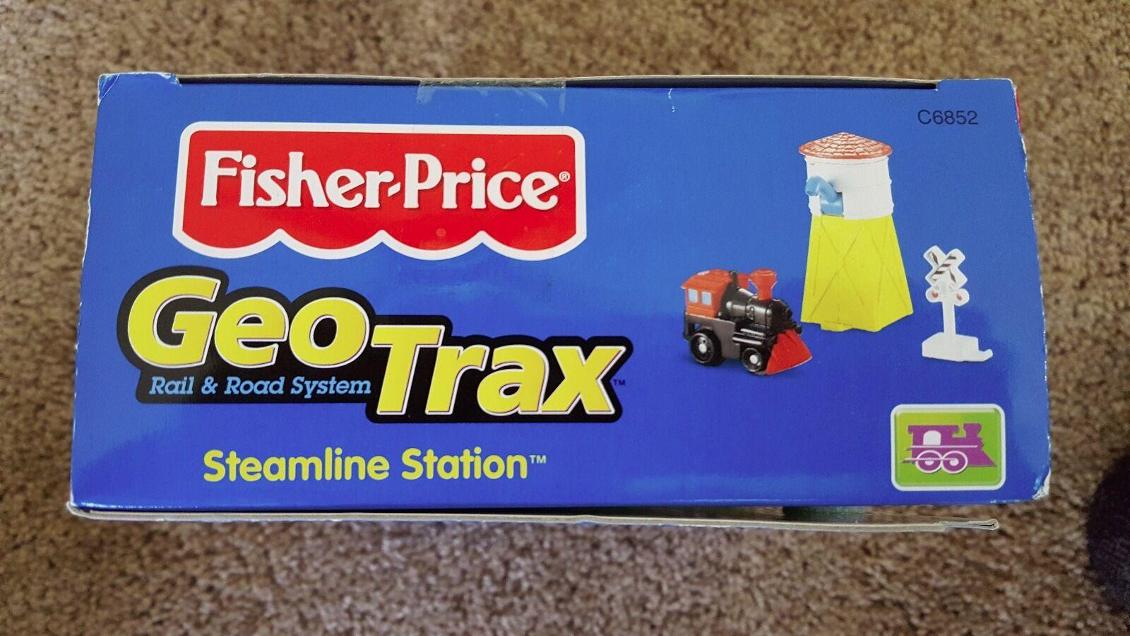 Fisher-Price GeoTrax GeoTrax GeoTrax Steamline Station C6852 N.I.B-Retired Rare 0246ae