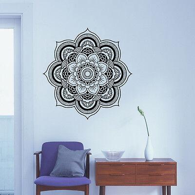 Wall Sticker Mandala Room Vinyl Decal Indian Menhdi Yoga  Flower Bedroom Decor